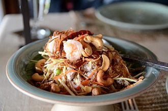 Thai salads - Yam khamin khao kung