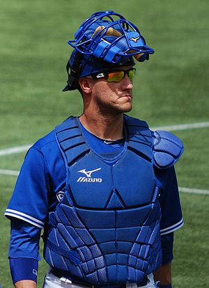 Yan Gomes - Gomes during his tenure with the Toronto Blue Jays in 2012