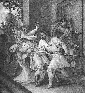 Grand Prince of Kiev - Image: Yaropolk murder