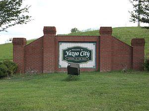 Yazoo City, Mississippi - Image: Yazoo City MS Welcome Sign