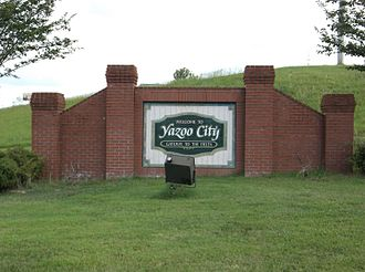Yazoo City, Mississippi - Image: Yazoo City MS Welcome Sign