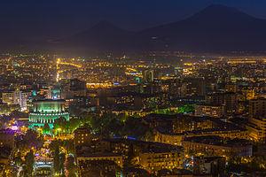 Yerevan Opera Theatre - Image: Yerevan at night (50mm)