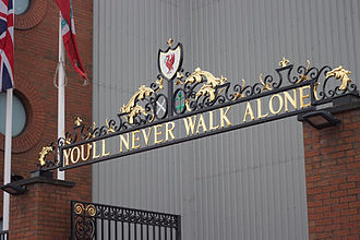 Anfield - The Shankly Gates were erected in 1982