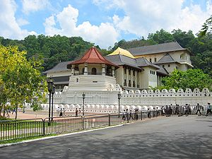 Kandyan Wars - The Sri Dalada Maligawa, in Kandy, home to the sacred Tooth Relic of the Buddha. The Kandyan Convention afforded Buddhism 'protection', but less than fifty years later the British had constructed a church within the sacred precinct.