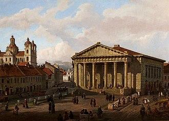 Town Hall, Vilnius - Marcin Zaleski, Vilnius Town Hall, 1863