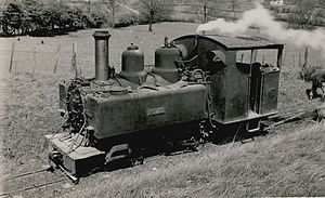 Ashover Light Railway - One of the Baldwin engines at Ashover, ca. 1948