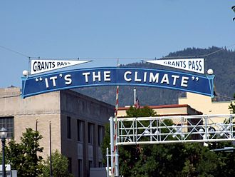 Grants Pass, Oregon - Welcome sign in Grants Pass
