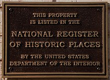 """National Register of Historic Places"" placard outside Bellamy Mansion Negro House in Wilmington, North Carolina.jpg"