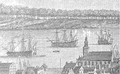 """Part of the Town and Harbour of Halifax in Nova Scotia looking down Prince Street to the Opposite Shore shews the Eastern Battery, George & Cornwallis Islands, Thrum Cap, &c. to the Sea off Chebucto Head"", 1759.png"