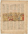 """Rustam Discoursing with Isfandiyar"", Folio from a Shahnama (Book of Kings) MET DP215881.jpg"