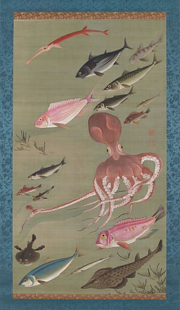 'Fish' from the 'Colorful Realm of Living Beings' by Ito Jakuchu