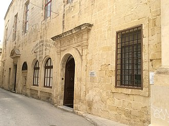 National Archives of Malta - Head Office of the National Archives of Malta at the Santo Spirito Hospital of Rabat