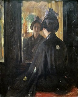 'The Mirror' by William Merritt Chase, Cincinnati Art Museum