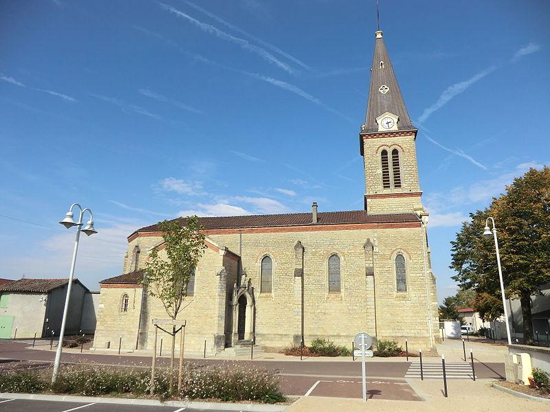 Église de Niévroz, côté sud