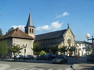 Le Bourget-du-Lac - The church.