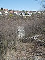 Ördög-orom Quarry Conservation Area. Cliff and trail. - Budapest.JPG