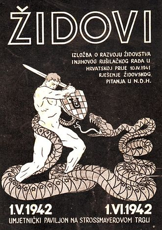 Independent State of Croatia - An antisemitic poster in Zagreb.