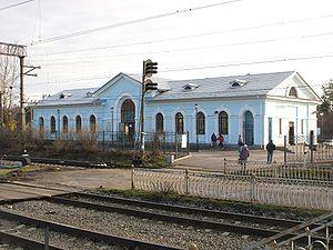 Sosnovo, Priozersky District, Leningrad Oblast - Sosnovo railway station building (2010).