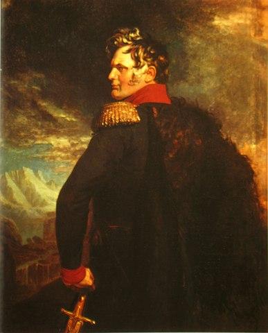 Портрет Ермолова из «Военной галереи» Зимнего дворца (Дж. Доу, 1825).