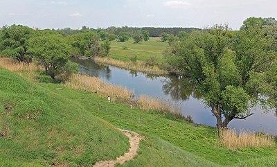 """Заказник """"Крюківський"""". Вид з Донецького городища.jpg"""