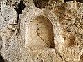 Оштетена фреска во монашките пештери во Зрзе.JPG