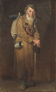Starets elder in an Orthodox Christian monastery