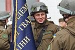 Президент України Петро Порошенко привітав молодих офіцерів з випуском 907 (16759523419).jpg