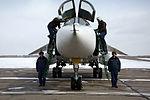 Прибытие экипажей фронтовых бомбардировщиков Су-24М с авиабазы Хмеймим в Сирии на аэродром Центрального военного округа (7).jpg