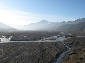 River - Samur River in Azerbaijan – In the natural landscape