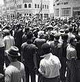 """ירושלים - הפגנת קהל נגד ה""""ספר הלבן"""" ליד מוסדות מושל המחוז-JNF012460.jpeg"""