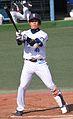 '120401 Hyuma Matsui, infielder of the Yokohama DeNA BayStars, at Yokosuka Stadium.JPG