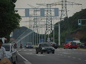 Jiangmen - Fengle Road is one of the trunk road linking southern and northern downtown.