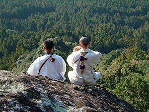 Shugendō - Shugendō practitioners (Shugenja) in the mountains of Kumano, Mie