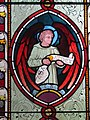 -2020-12-05 Stained glass depicting the winged Saint Matthew, All Saints, Gimingham.JPG