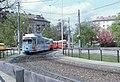 086R01300482 Bereich Abfahrt von der Reichsbrücke Ersatzbrücke, Blick Richtung Engerthstrasse, Remise Vorgarten, Strassenbahn Linie 26, Typ E1 4770.jpg