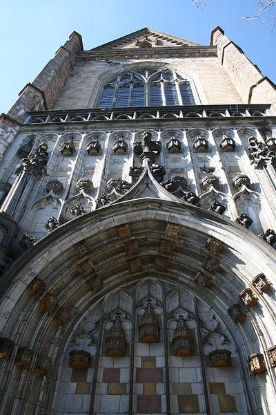 Southern portal of the Saints Peter and Paul Basilica (XVI/XVIII/th centuries) of Saint-Hubert (Belgium).