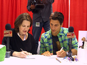 Amanda Conner - Conner sketching with Kenny Santucci for a segment for MTV Geek at the 2012 New York Comic Con