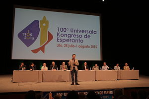 World Esperanto Congress - Mark Fettes, president of the World Esperanto Association, during the 100th World Esperanto Congress in Lille (France), 2015