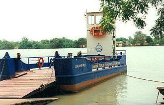 Janjanbureh, Gambia - Image: 1014077 Georgetown ferry boat The Gambia