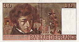 10 Francos franceses 1978 (reverso)