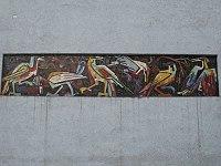 1160 Thalheimergasse Herbststraße 87-91 - Mosaikfries Vögel von Rudolf Reinkenhof 1955 IMG 2581.jpg