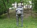1210 Marco Polo-Promenade - Metallskulptur Katharina von Österreich von Gerda Fassel 1983 IMG 3668.jpg