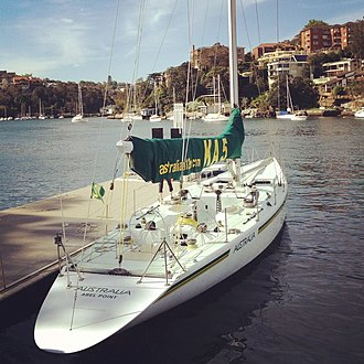 Australia (yacht) - Australia docked in Sydney in her current livery