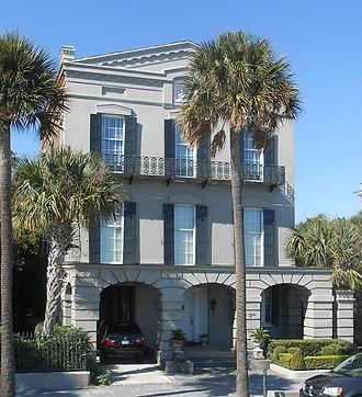 William Ravenel House -  The William Ravenel House at 13 East Battery, Charleston, South Carolina