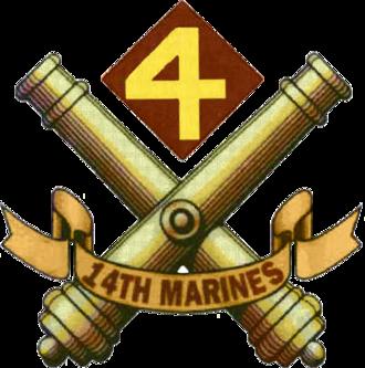 14th Marine Regiment (United States) - 14th Marines insignia