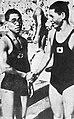 1500m freestyle gold medalist Kitamura and silver Makino 1932.jpg