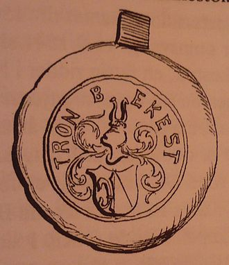 Trond Torleivsson Benkestok - Seal of Trond Benkestok from 1534. National Archives in Oslo