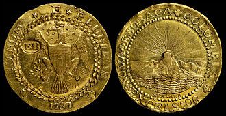 The High Window - A 1787 Brasher Doubloon, the same type featured in The High Window
