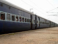 18464 Prashanti Express enters Pithapuram railway station 02.jpg
