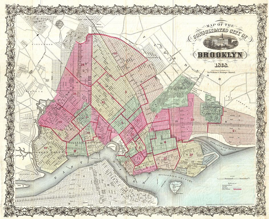 greenpoint brooklyn map with File 1868 Bishop Pocket Map Of Brooklyn  New York   Geographicus   Brooklyn Bishop 1868 on The Safest And Most Dangerous likewise ZipCodes together with 2989 besides Home also Hot Recap National Puerto Rican Day Parade 2009.